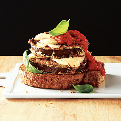 Open-Faced Eggplant Sandwiches