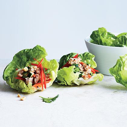 Spicy Pork Lettuce Cups Recipe