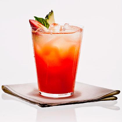 Strawberry-Basil Pineapple-Ade