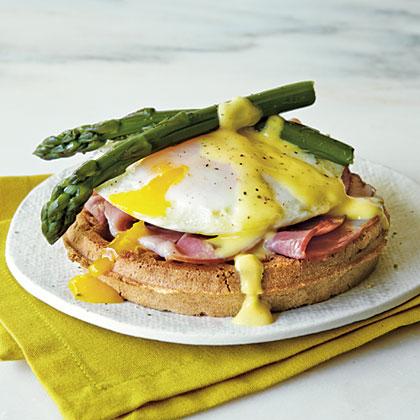 Eggs Benedict Waffle Sandwiches Recipe | MyRecipes.com