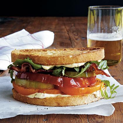 Heirloom Tomato, Arugula, and Bacon Sandwiches