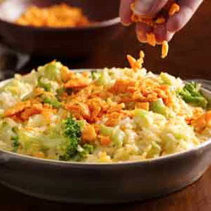 Creamy Cheese-Broccoli Rice Bake