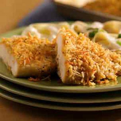 Crispy Garlic-Parmesan Chicken  Recipe