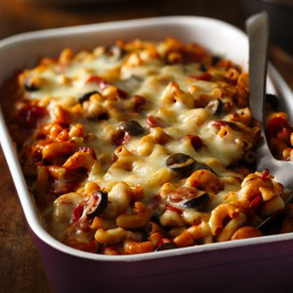 how to make pizza pasta bake
