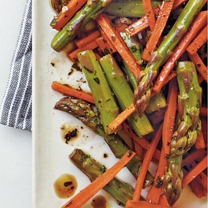 Marinated Asparagus-and-Carrot Salad