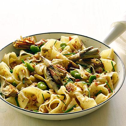 Artichoke and Fava Pappardelle Recipe