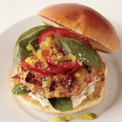 <p>Broiled Salmon Burgers</p>