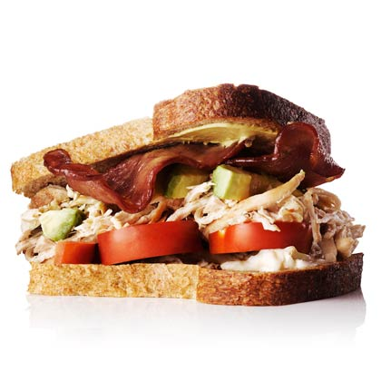 Chicken, Avocado, and Turkey-Bacon Sandwich