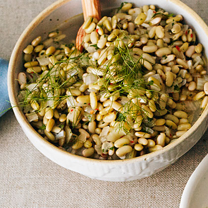 Flageolet Beans with Fresh Fennel