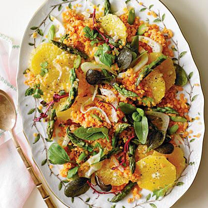 Asparagus, Orange, and Lentil Salad