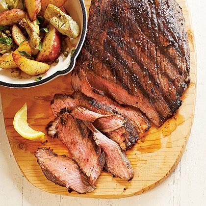 Seared Steak with Potato-Artichoke HashRecipe