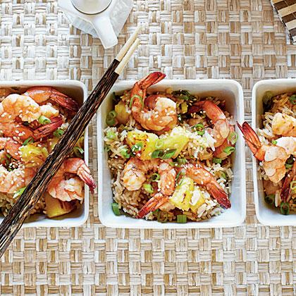Shrimp-Pineapple Fried Rice