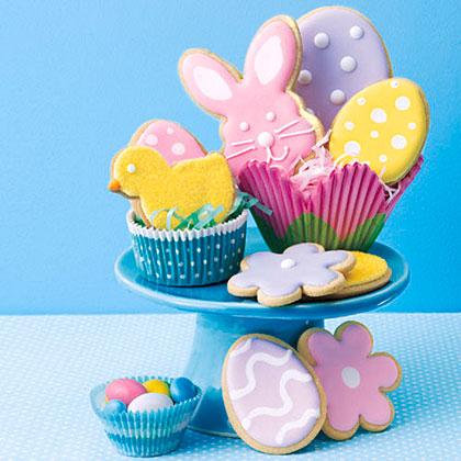 Pecan Shortbread Easter Cookies