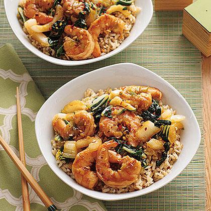 Stir-Fried Shrimp and Bok Choy