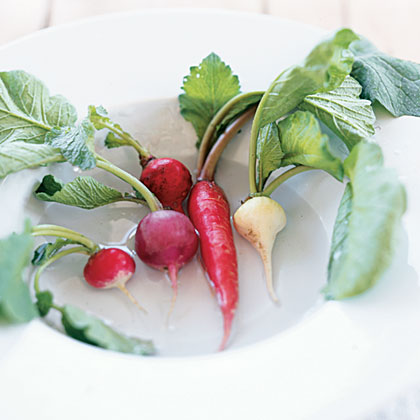 Radishes may be the quickest, easiest, and most plentiful vegetable to grow in a garden. This crunchy, peppery root vegetable can be harvested in less than a month and is perfect for a spring garden. Radishes will sprout rapidly and in large numbers, so be prepared to find inventive ways to incorporate them into your meals. Their spicy flavor can jazz up any dull dish.