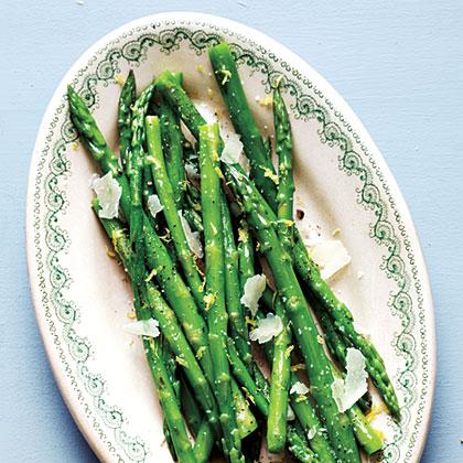 Asparagus with Lemon and Pecorino