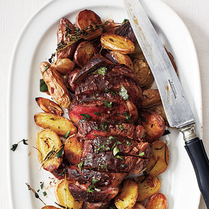 Bistro Steak with Red Wine Sauce