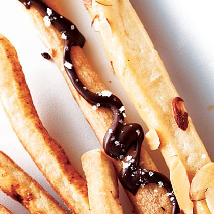 Chocolate-Sea Salt Breadsticks