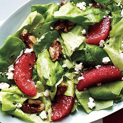 Grapefruit, Walnut, and Feta Salad