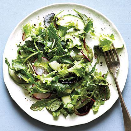 Green Salad With Simple Vinaigrette Recipe Myrecipes