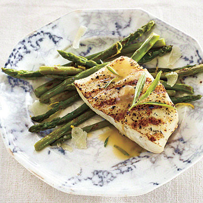Grilled Halibut with Tarragon Beurre Blanc Recipe
