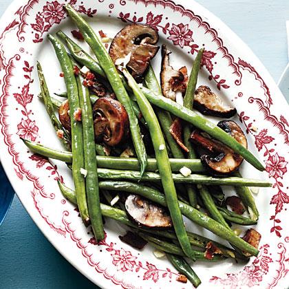 Smoky Haricots Verts and Mushrooms Recipe