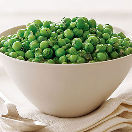 Fresh Peas with Mint and Green Onions