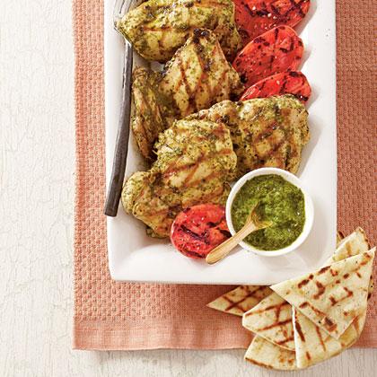 Grilled Spicy Cilantro Chicken
