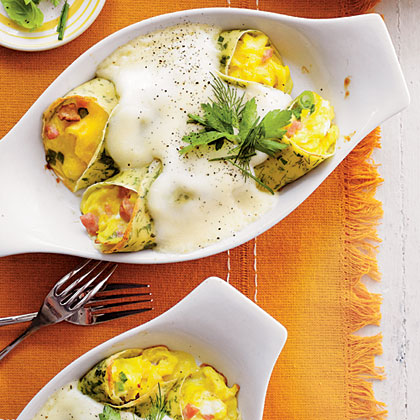 Scrambled Egg and Crêpe Casserole Recipe