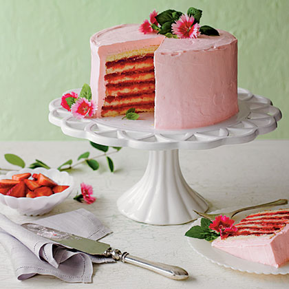 Strawberries and Cream Cake Recipe | MyRecipes