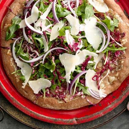 <p>Arugula and Radicchio Salad Pizza</p>