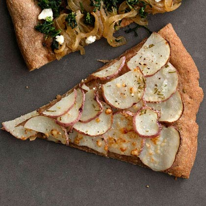 <p>Red Potato and Rosemary Pizza</p>