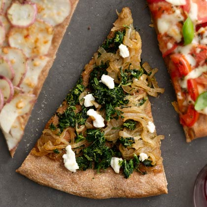 <p>Spinach and Cheese Pizza</p>