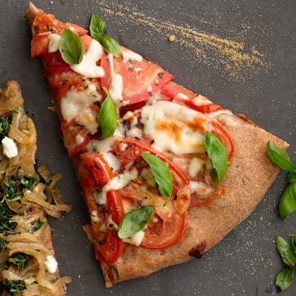<p>Tomato and Mozzarella Pizza</p>