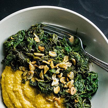 Garlicky Mustard Greens