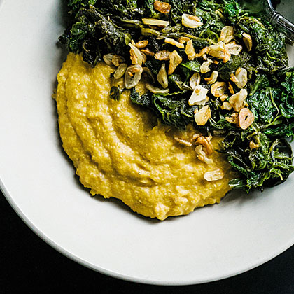 Grits with Creamed Cashews Recipe