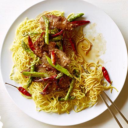 Sichuan Steak and Asparagus