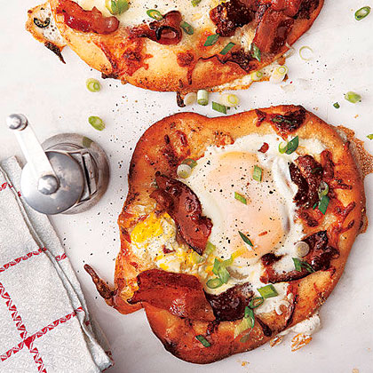 Individual Bacon-and-Egg Pizzas
