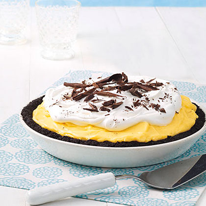 Black-Bottom Banana Pie Recipe