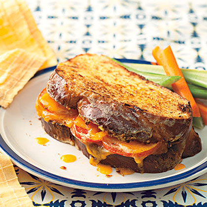 Cheddar-and-Tomato-Stuffed French Toast Recipe
