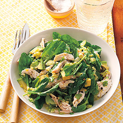 Chicken and Avocado Salad with Wasabi-Lime Dressing Recipe
