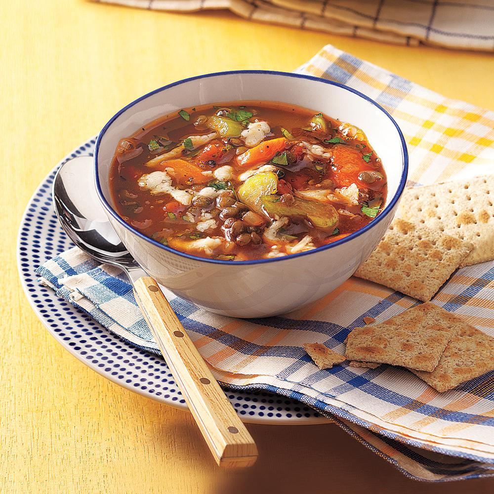 Vegetable-Lentil Soup Recipe