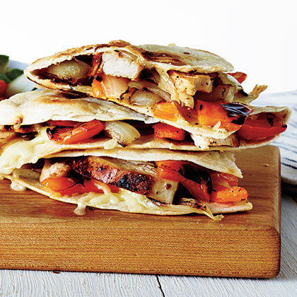 Grilled Chicken and Vegetable QuesadillasRecipe