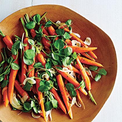 Newfangled Peas and CarrotsRecipe