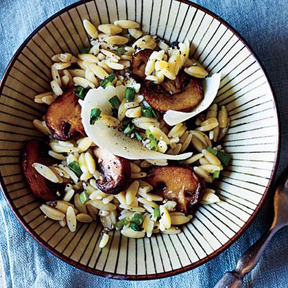 Orzo with Pecorino and Mushrooms