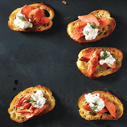 Sockeye Salmon Crostini Recipe Myrecipes