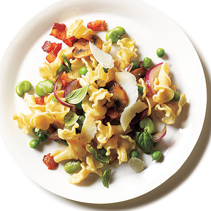 Spring Pasta with Fava Beans and Peas