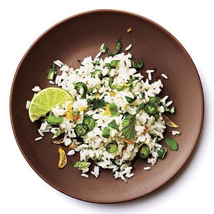 Thai Cilantro and Serrano Rice