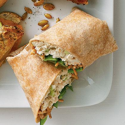 sl-Asian Chicken Salad Wraps