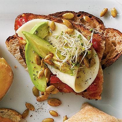 Avocado and Sprout SandwichesRecipe
